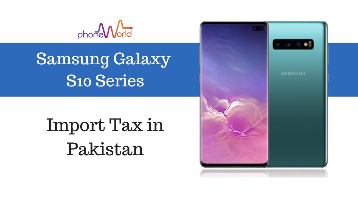Samsung Galaxy S10 tax