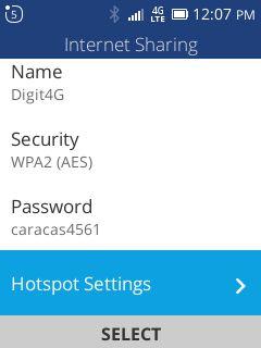 Wifi Hotspot Settings - Jazz Digit 4G