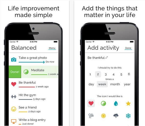 Balanced habit app