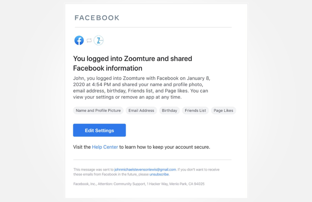 Facebook Will Notify Users for Third-Party App Logins
