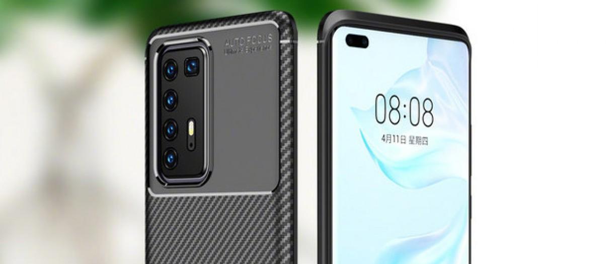 Images of Huawei P40 Pro Case Reveals Penta Camera Setup