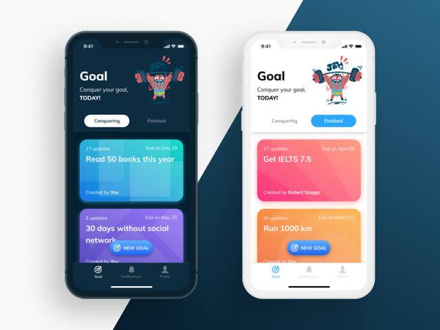 Goal tracker habit app