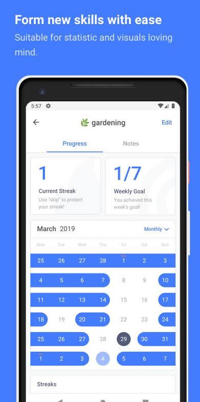 Habitify tracking app