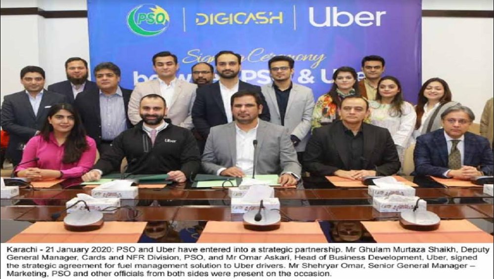 FIRST OF ITS KIND FUEL MANAGEMENT SOLUTIONSTRATEGIC AGREEMENT BETWEEN PSO & UBER