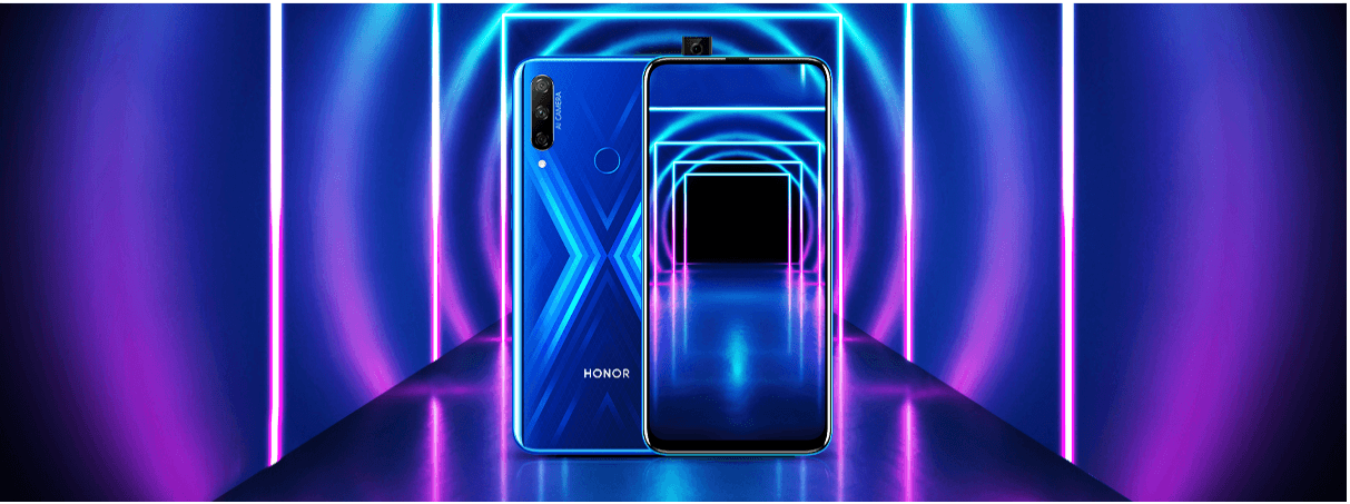 The perfect blend of look and performance- HONOR 9X with its unique X shaped light reflecting rear finish