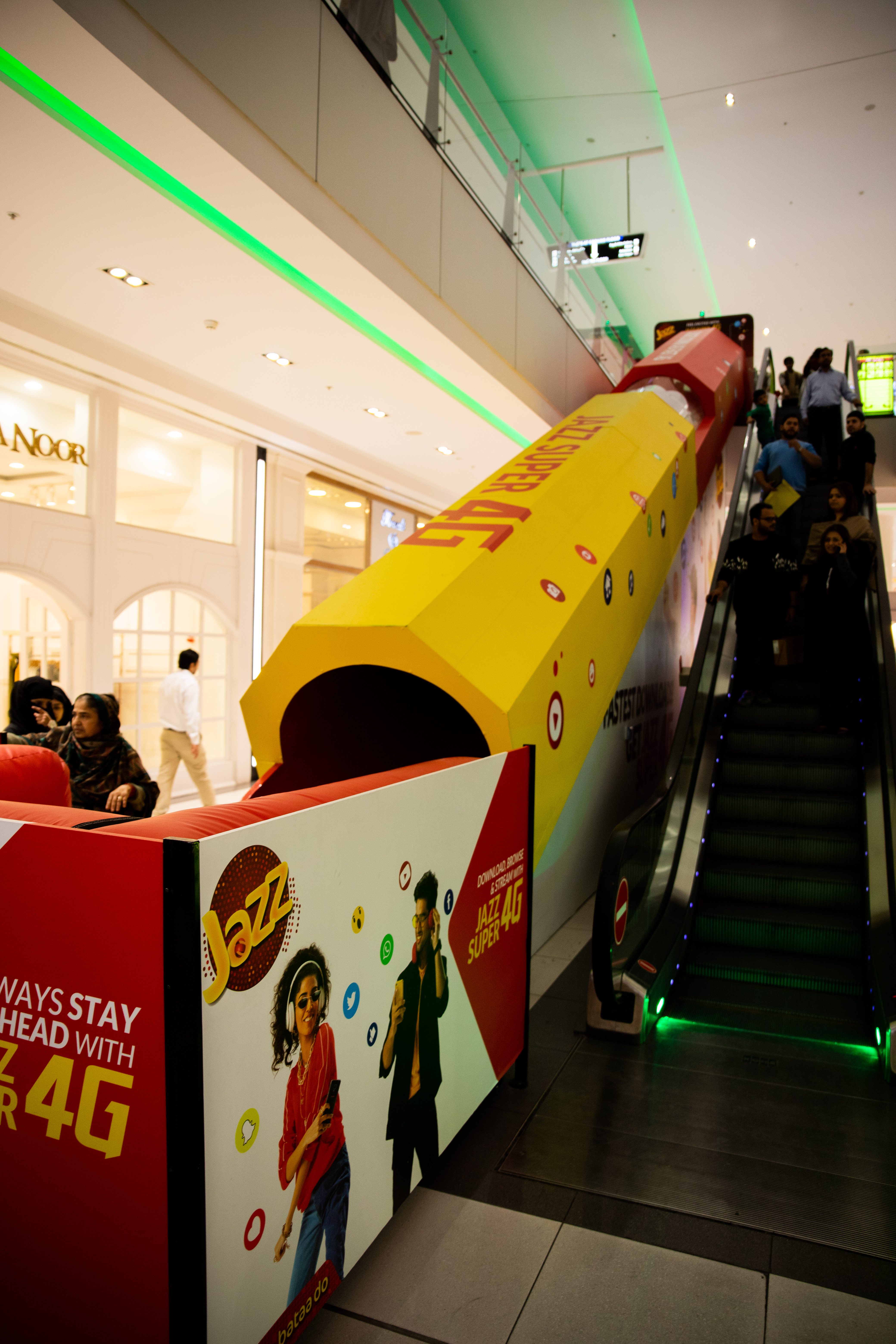 Jazz's Slide Activation At Packages Mall, Lahore