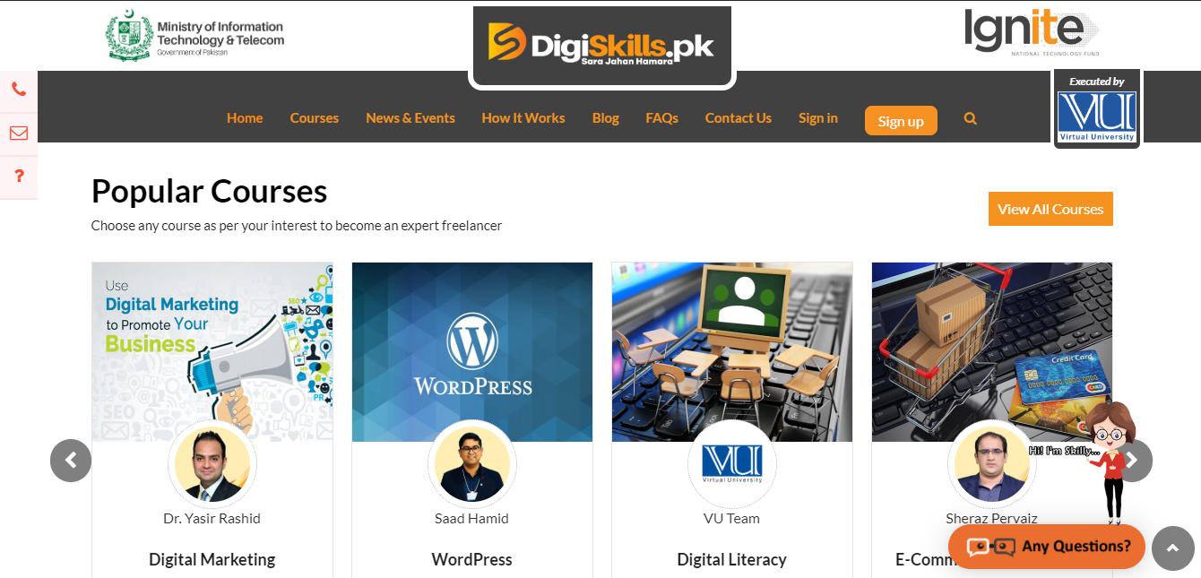 Digi skills online pakistan