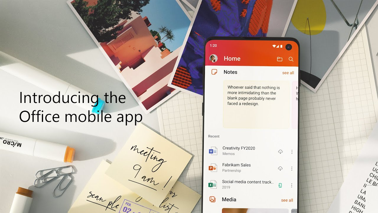 Microsoft Unified Office app for Android devices