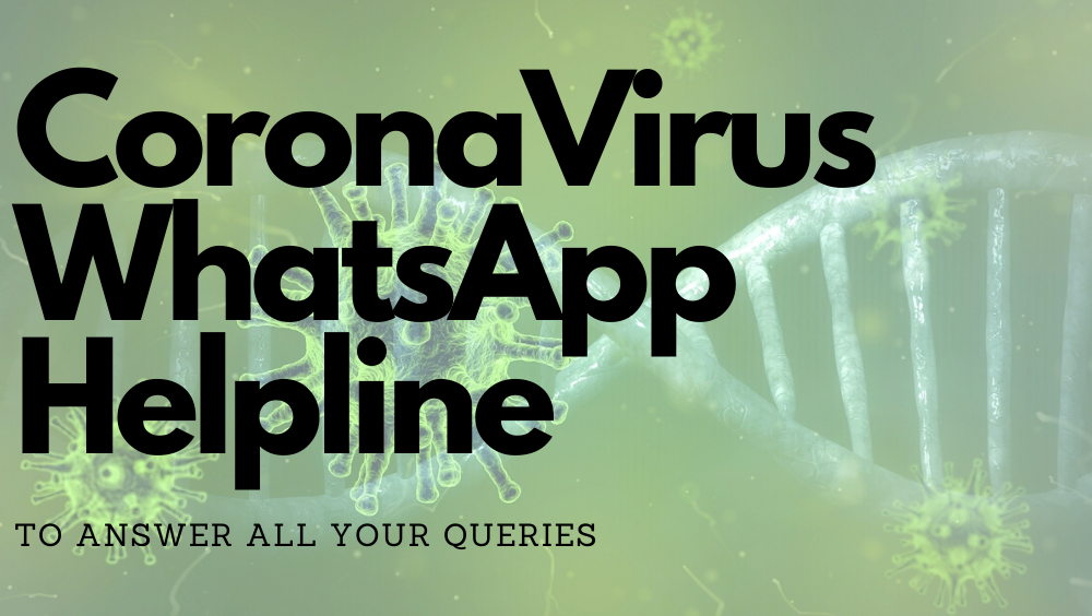 GOP Introduces Coronavirus Whatsapp Helpline To Answer All Your Queries In 7 Languages
