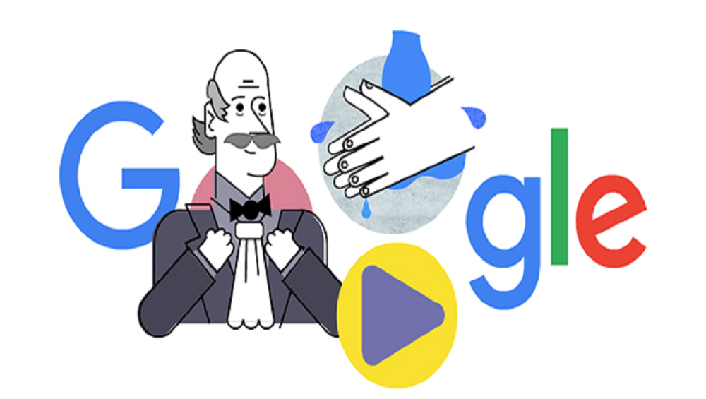 Google Posts Hand Washing Video Doodle For Dr. Ignaz Semmelweis