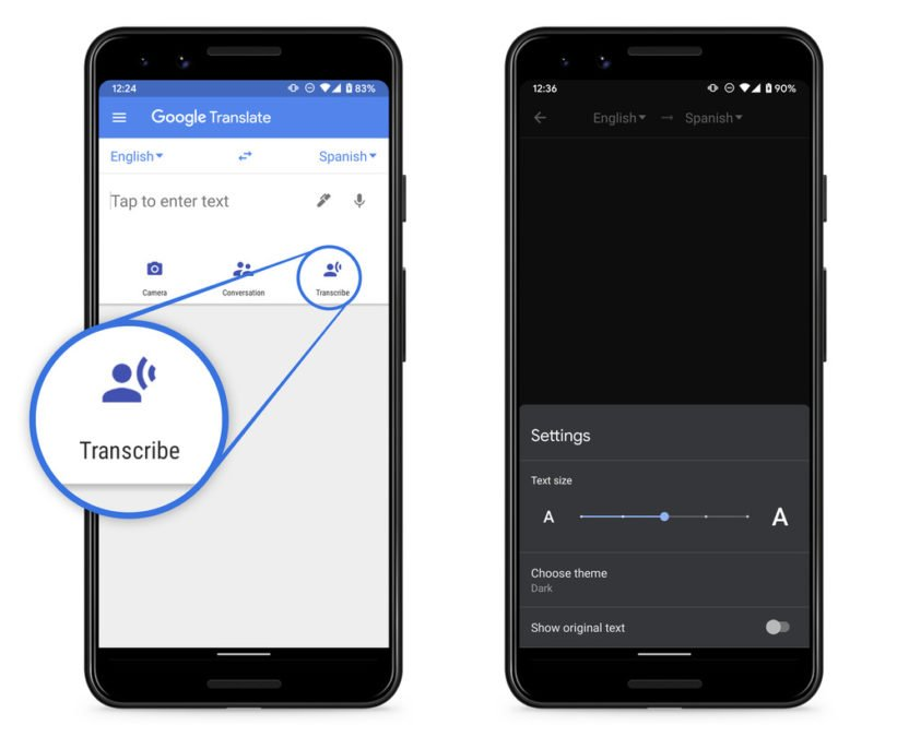 Transcribe Feature in Google Translate App Turns Live Speech to Text in Different Language