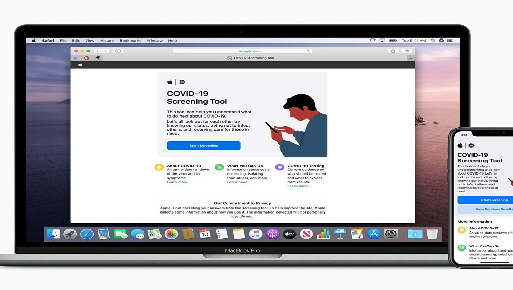 Apple Launches COVID-19 Screening App & Website