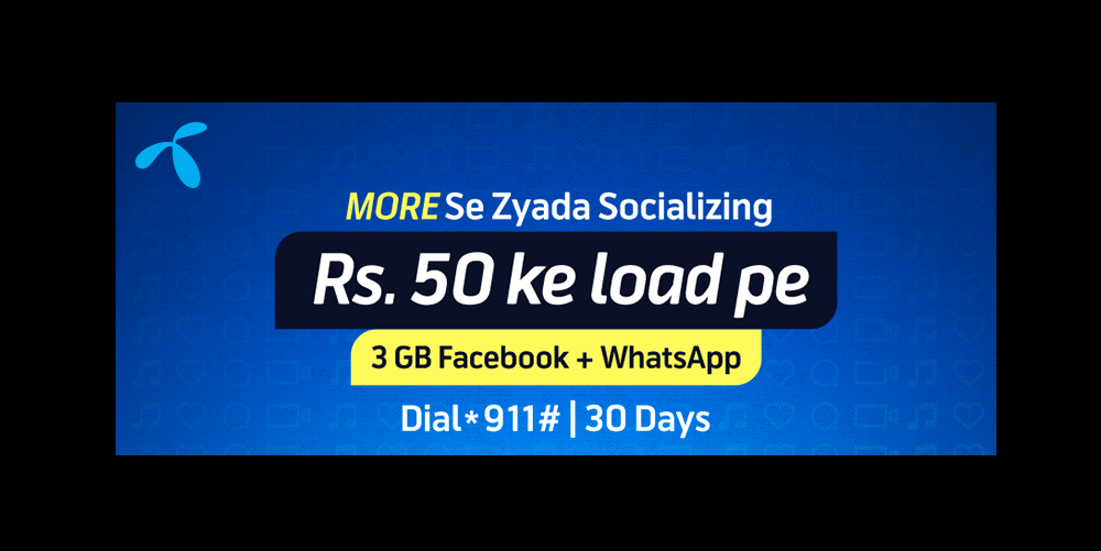 Enjoy More Se Zada Talks with Telenor Monthly Social Package