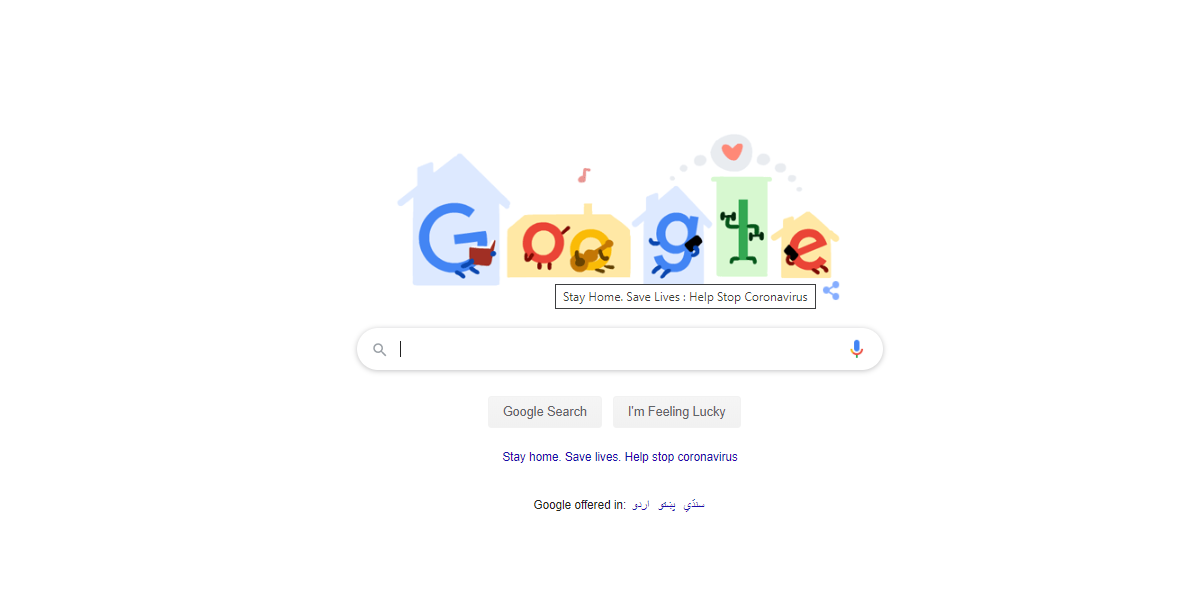 Stay Home, Save Lives- New Google Doodle Shares Tips to Kill Boredom at Home
