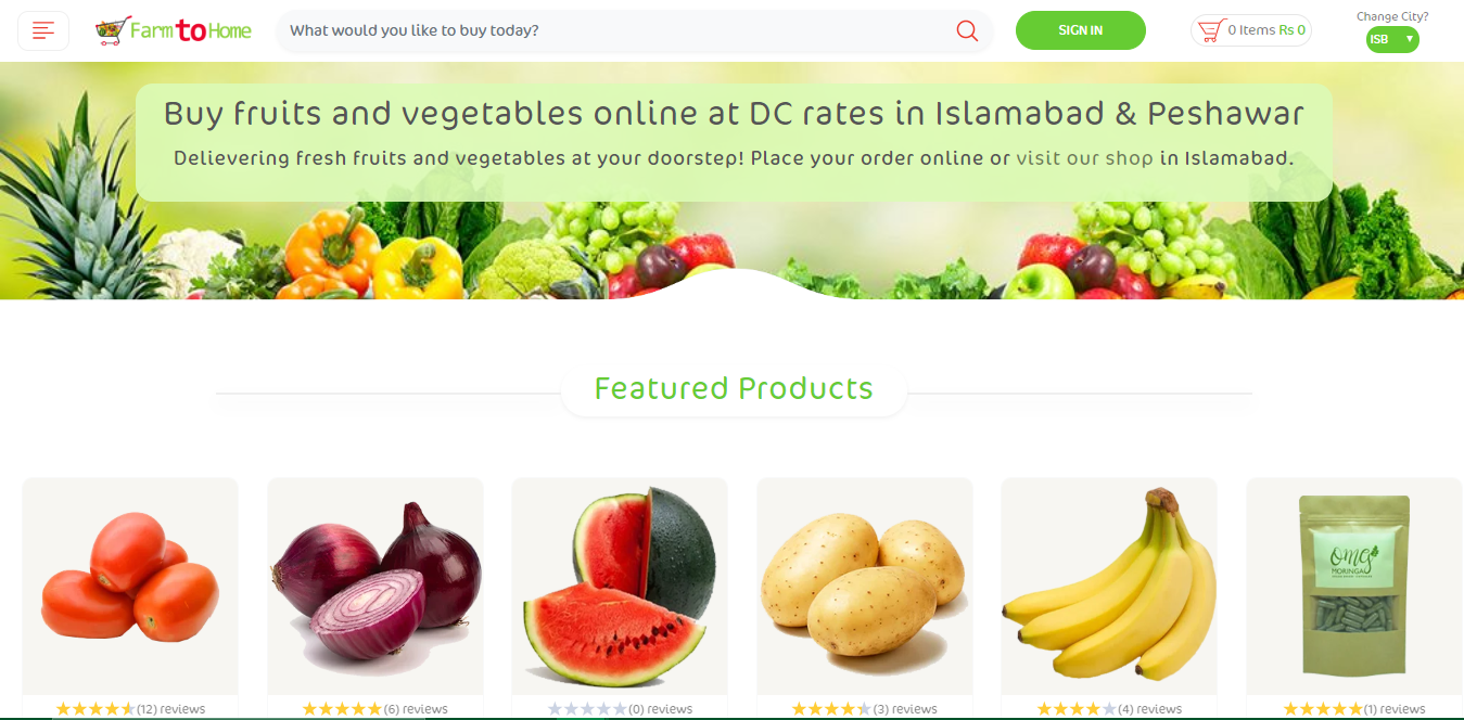 Farm To Home- Safe Online Fruit And Vegetables Shopping App