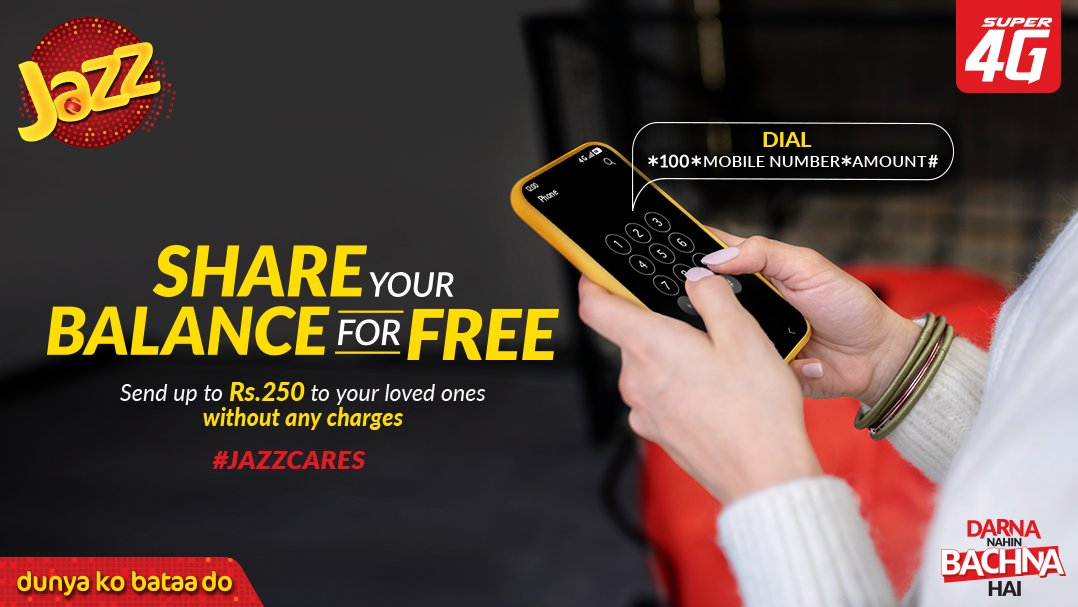 Stay Home and Share Your Balance for Free With Jazz