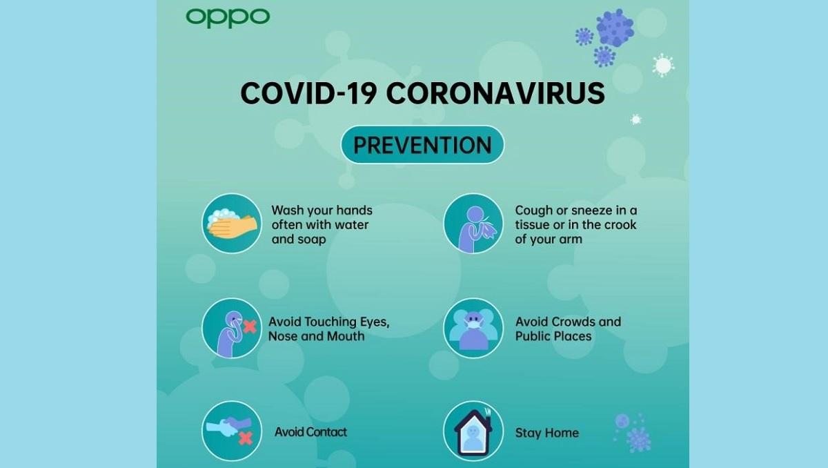 OPPO Issues Advisory to its customers to fight against the Pandemic COVID-19