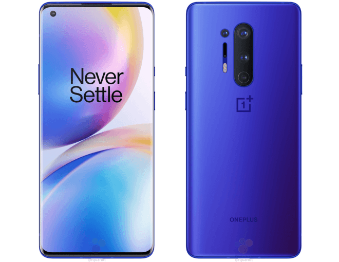 Leaked OnePlus 8 Pro Renders Show New 'Ultramarine Blue' Finish