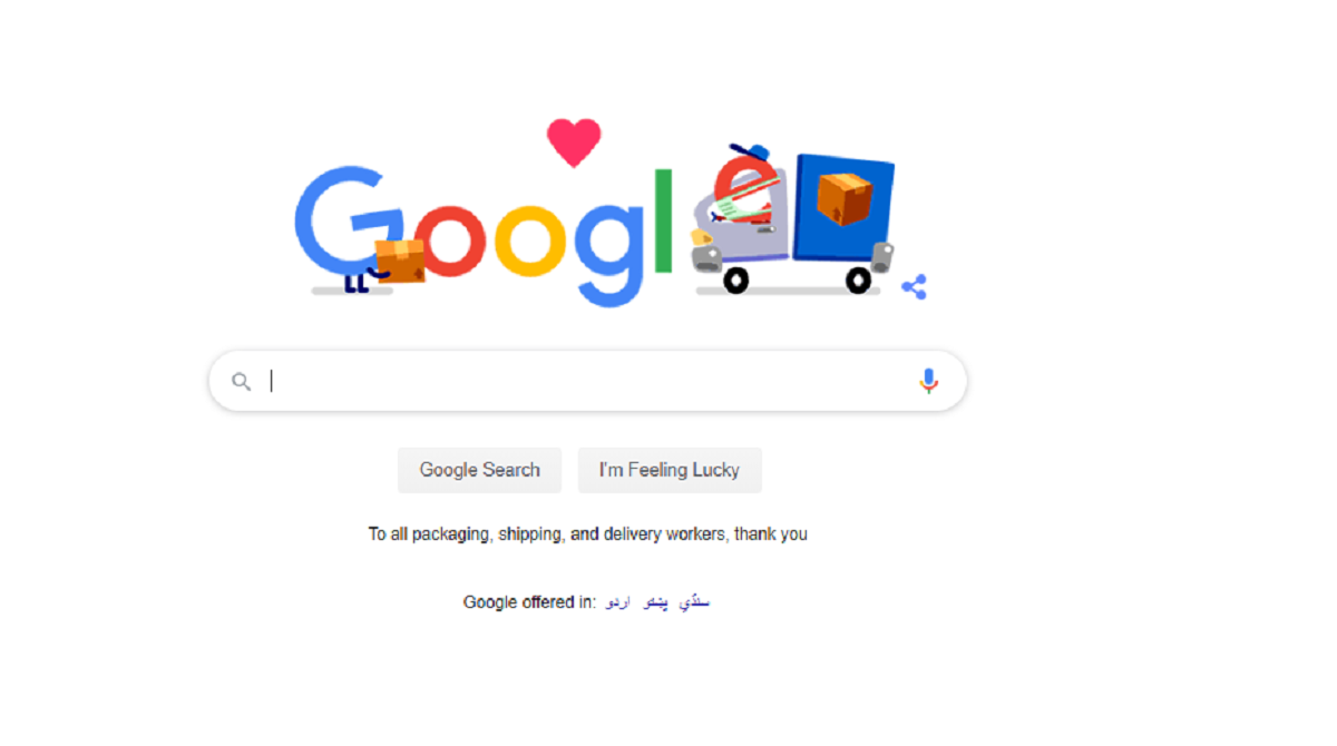 Google Doodle Acknowledges Services of Shipping and Delivery Workers During COVID19