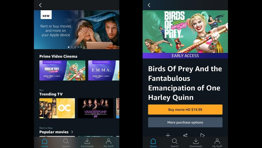 Apple Lets Amazon Rent movies via Prime Video on iPhone