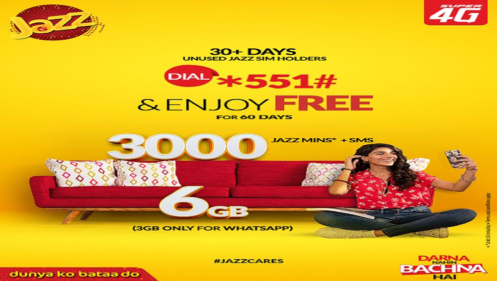Reactivate Your Unused Jazz SIM to Get Free Jazz Mins, SMS & Internet