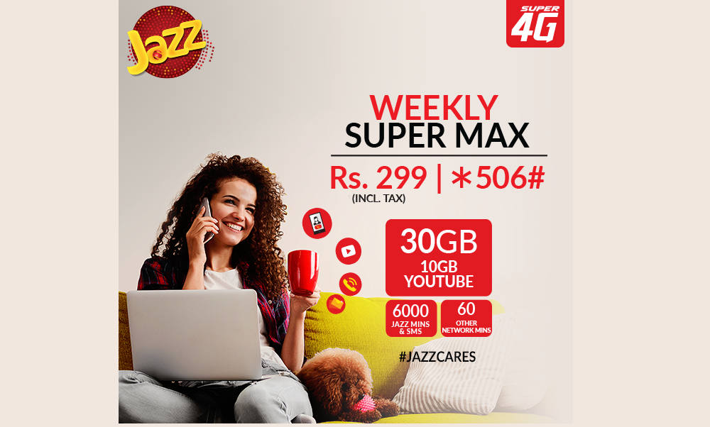 Give Your Week a Super Start with Jazz Weekly Super Max Offer