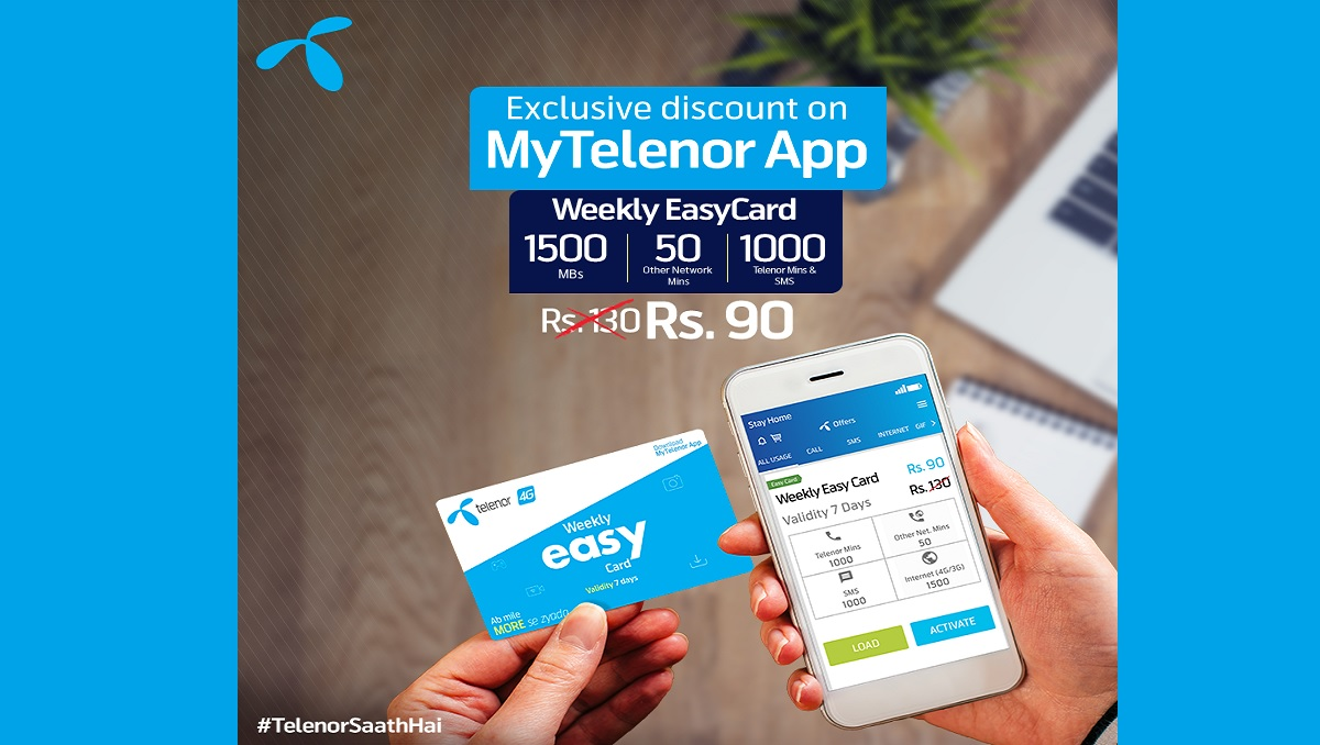 Get Weekly Easy Card For Just Rs 90 On My Telenor App Phoneworld