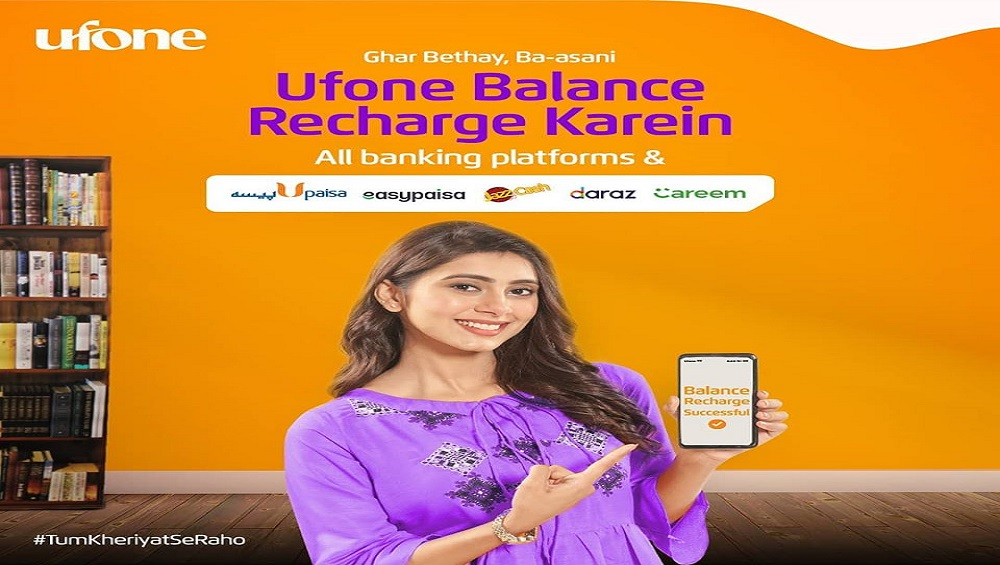 Ufone is facilitating you by Ufone Online Recharge with your Debit/Credit Cards.