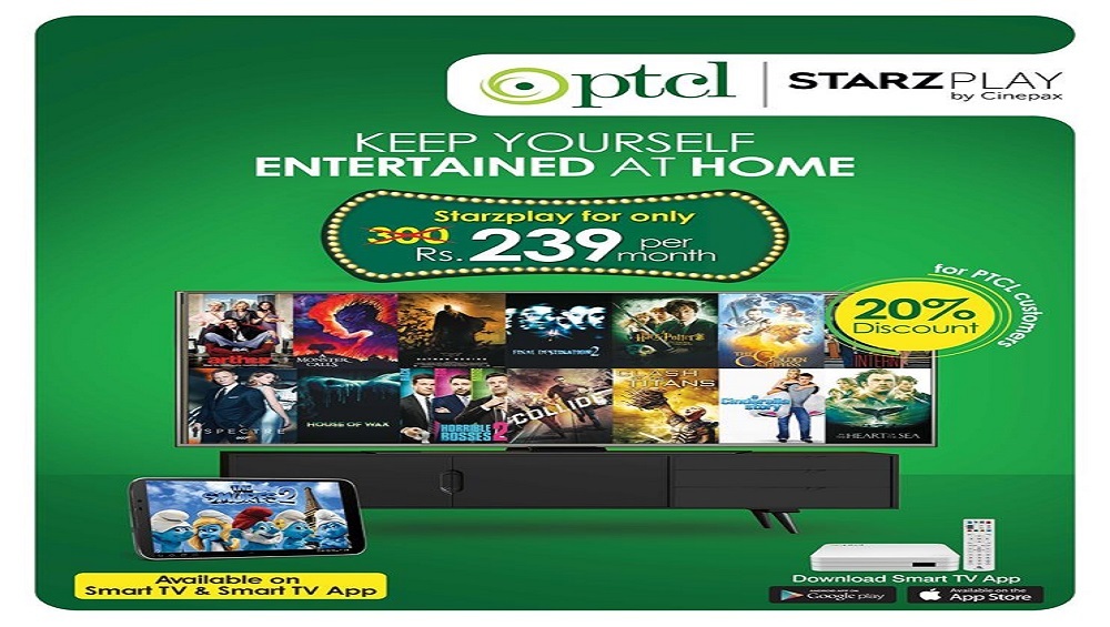 PTCL Brings Starzplay by Cinepax at a 20% Discount