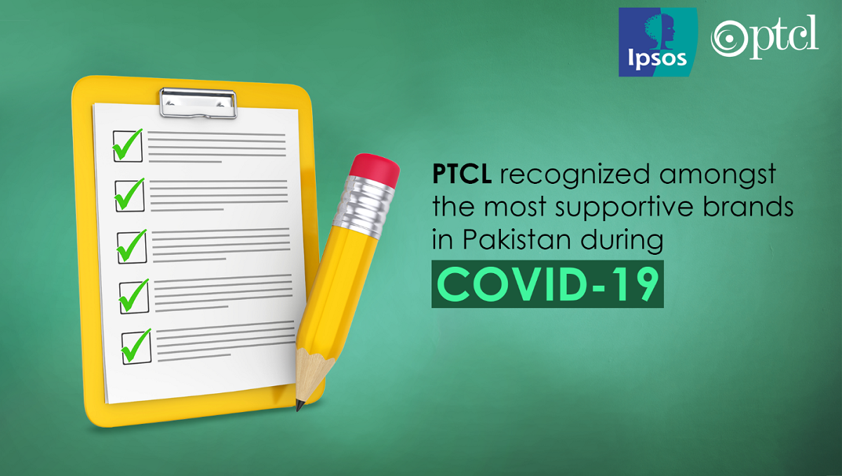 PTCL Recognized Amongst the Most Supportive Brands in Pakistan during Covid-19