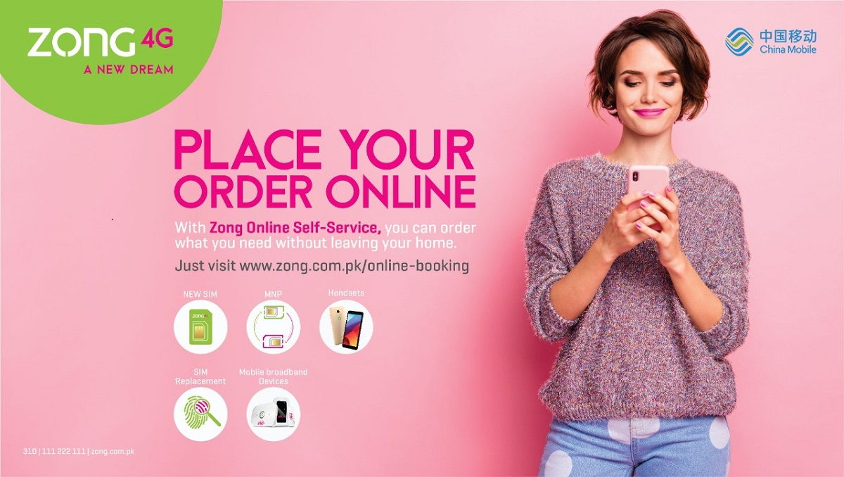 With free home delivery service, order in and remain connected with Zong 4G