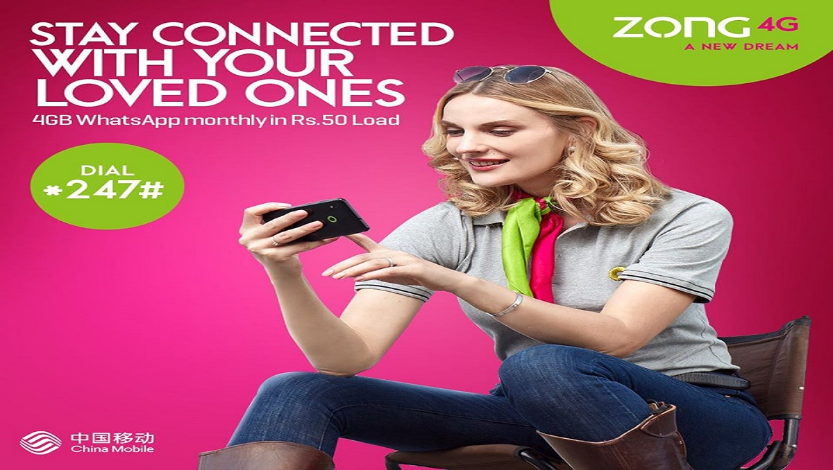 Activate Zong WhatsApp Monthly Offer in Just Rs. 38 +Tax
