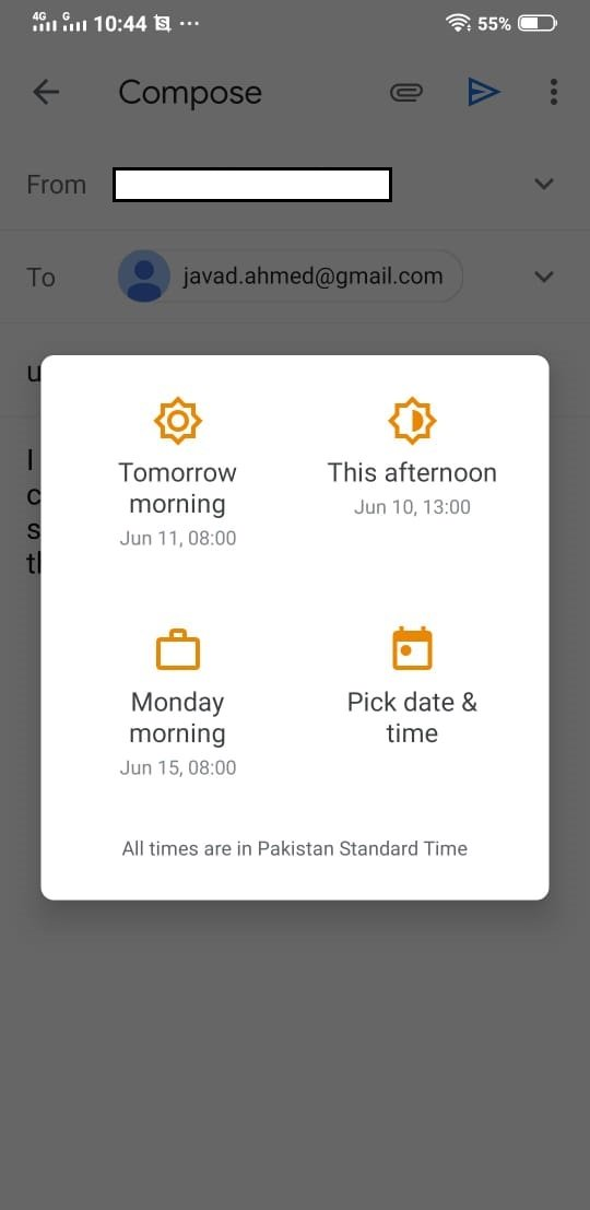 SCHEDULE EMAILS IN GMAIL USING YOUR MOBILE APP