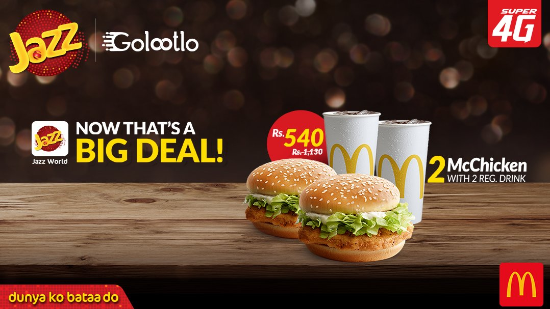 Get Mcdonald's Super Deal with Jazz World