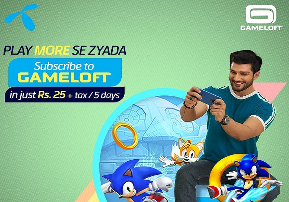 Telenor Lets you Play More se Zayada by Subscribing to GAMELOFT