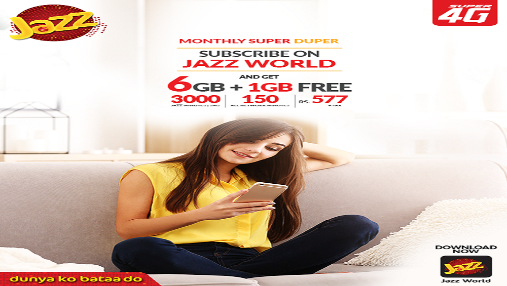 Subscribe on Jazz World for Monthly Super Duper Offer