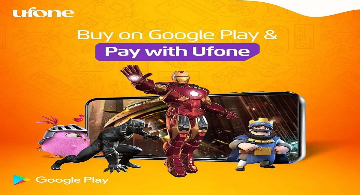 Pay for your Favorite Content on Google Play Store with Ufone Mobile Balance