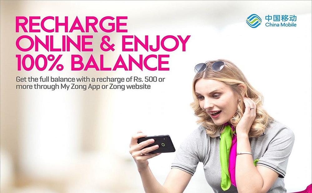 Recharge Online with My Zong App and Enjoy 100% Balance