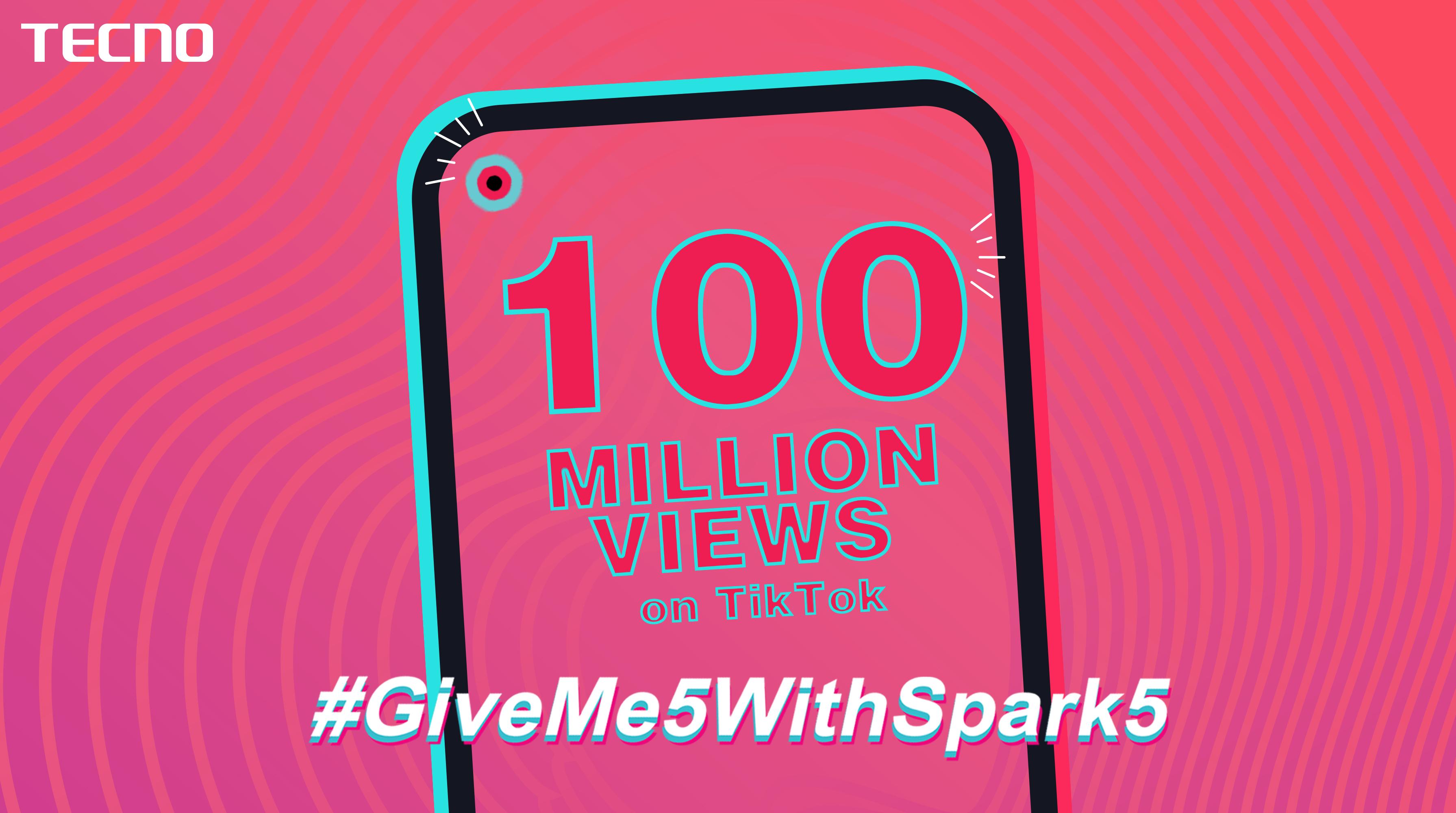 TECNO's #GiveMe5withSpark5 Challenge