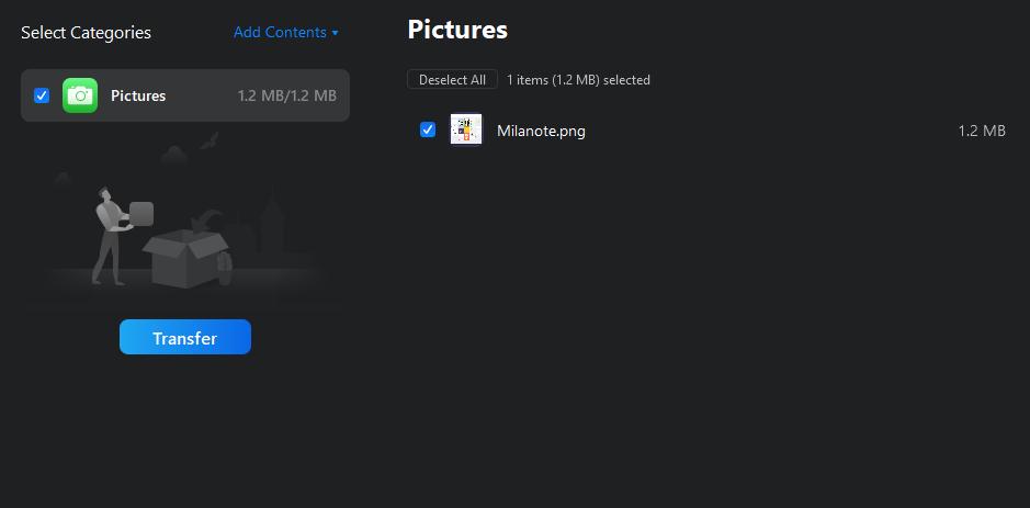 11. PC to Phone image transfer free
