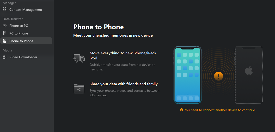 12. Free transfer from iPhone to iPhone