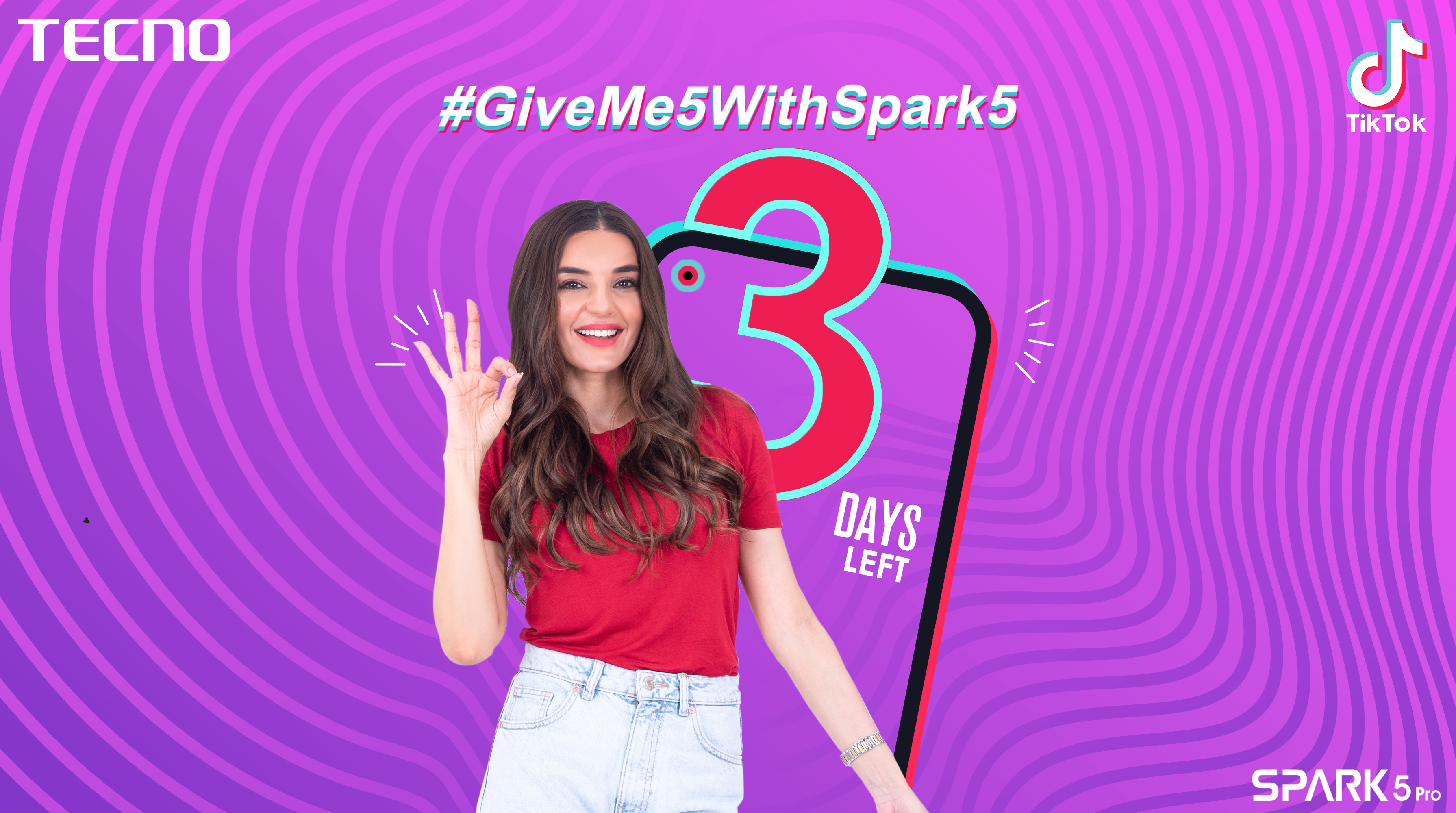 tecno GiveMe5withSpark5