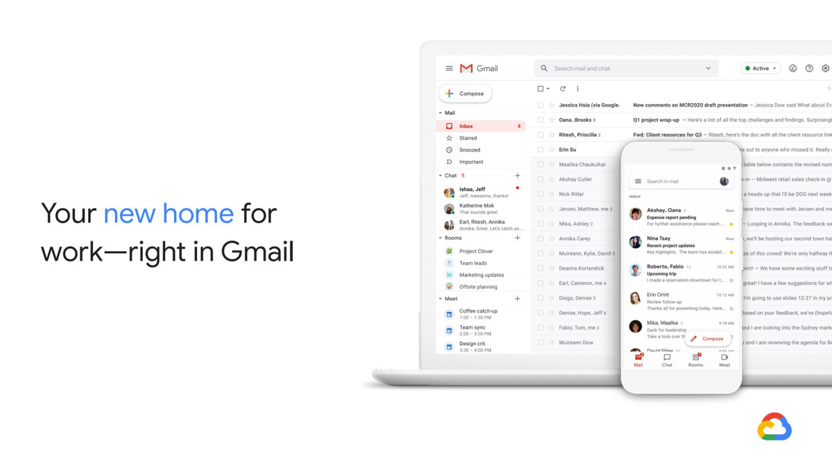 Leaked Gmail Redesign Reveals Chat, Meet, and Docs Integration