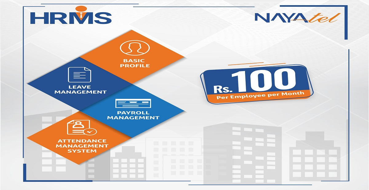 Now Enjoy Nayatel HRMS solution in Rs.100/month per Employee