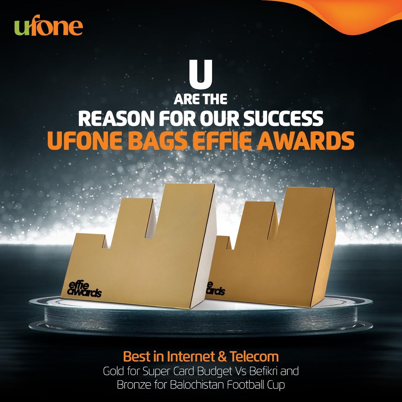Photo of Ufone wins two prestigious Effie Awards