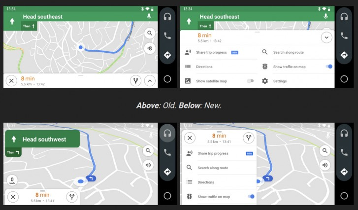 Google Maps Gets Better Interface for Android Auto on smartphone