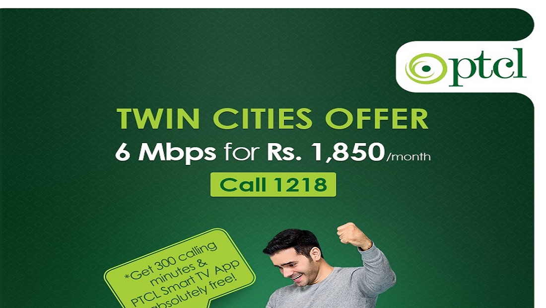 PTCL Users in Twin Cities can Enjoy 6 Mbps for Rs. 1850/month