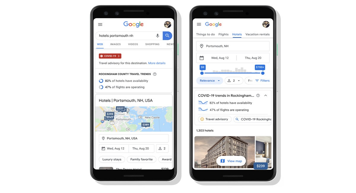 Google Search will Soon Show COVID-19 Related Travel Planning Features