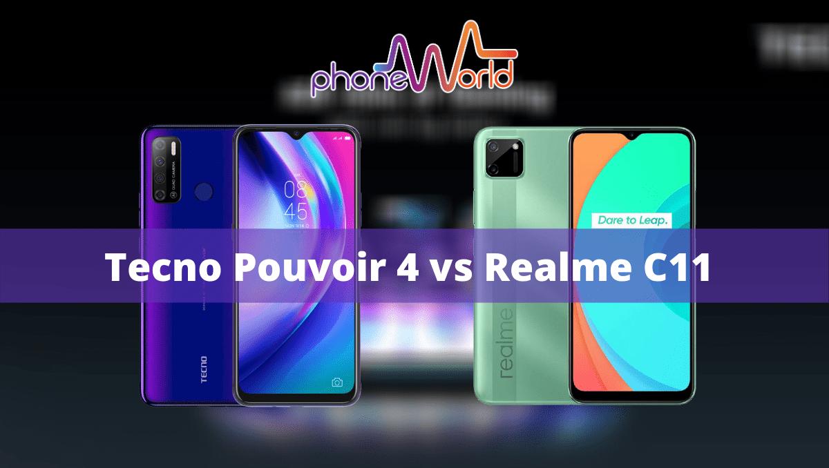 TECNO Pouvoir 4 vs Realme C11-min