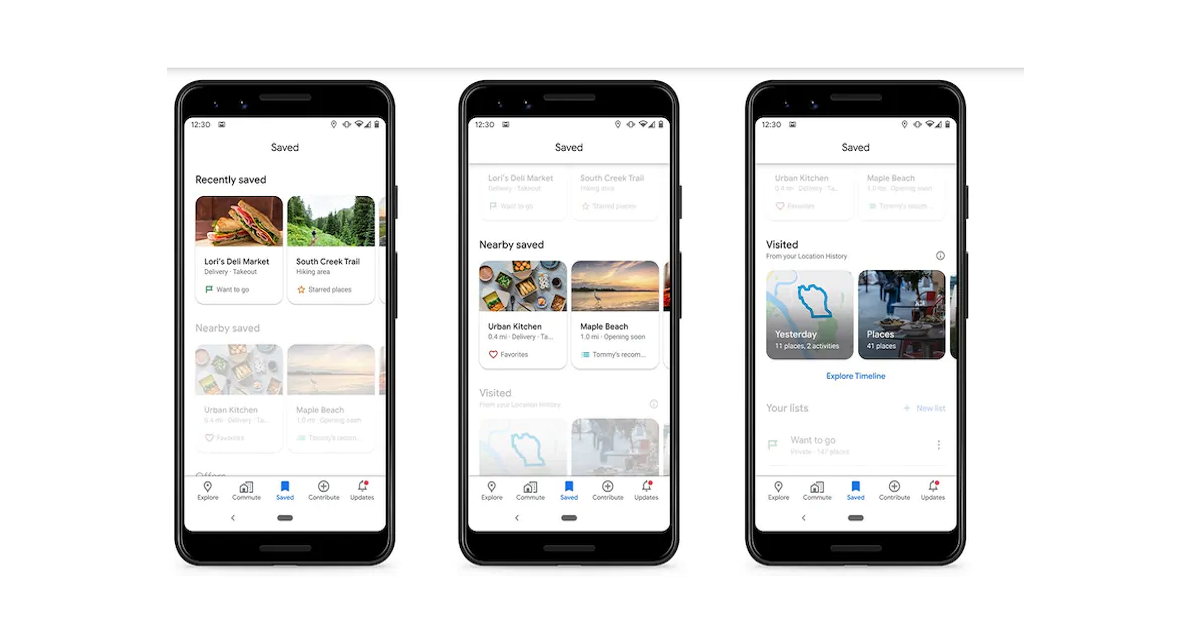 Google Maps Redesigned Saved Tab Lets Users Search Locations Quickly